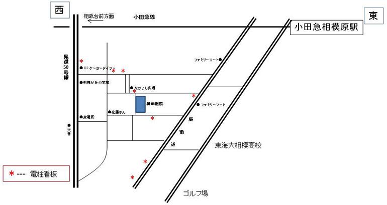 地図 鴇田医院